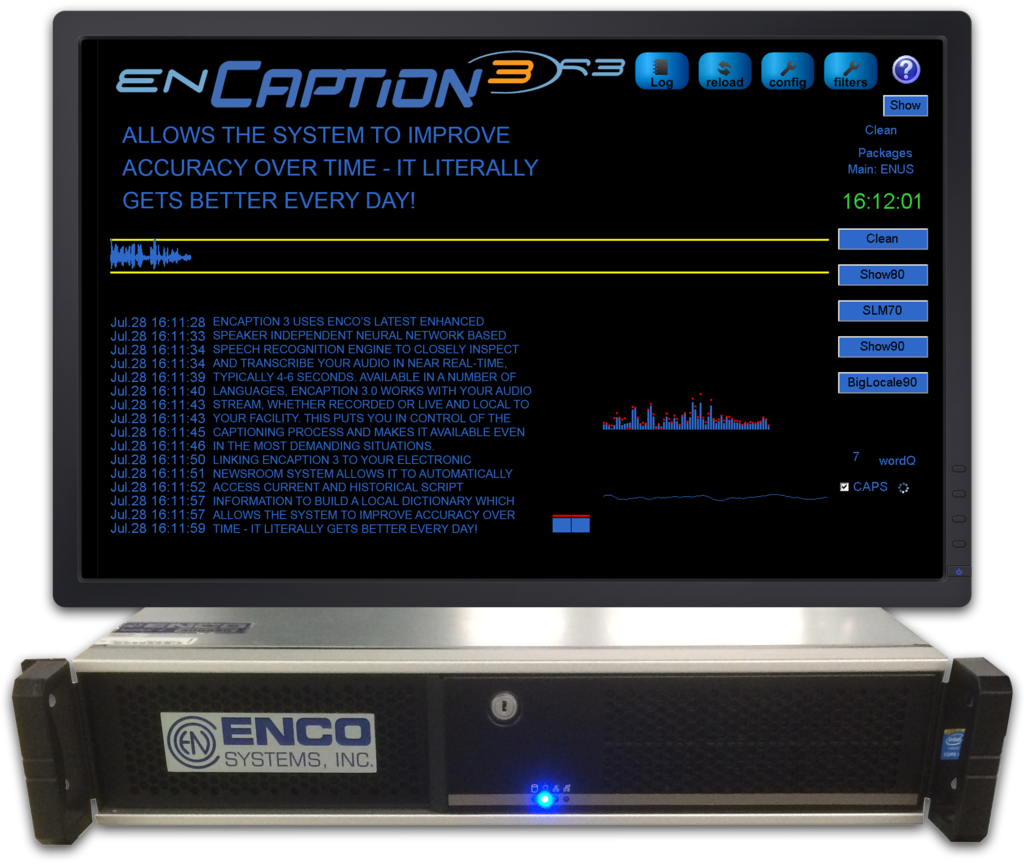 ENCO Systems - enCaption3 - Automated Closed Captioning System - EnCaptionHardware