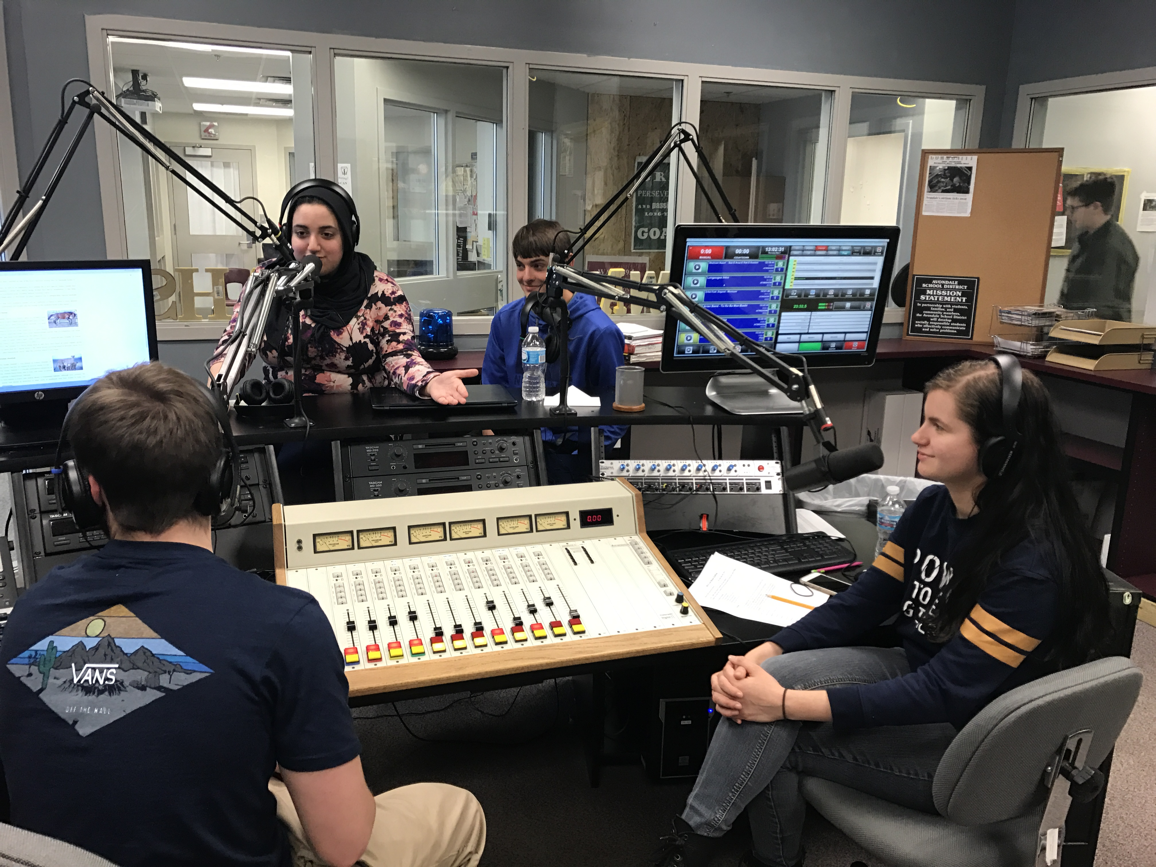 "ENCO Automation is a ""Game Changer"" for Award-Winning High School Station WAHS-FM - ENCO Systems - Press Releases, Media Resources - WAHS_Studio_with_ENCO_DAD"